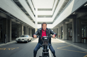 David Hasselhoff Swaps KITT for Two Wheels to Become 'Moped Rider' | LBBOnline