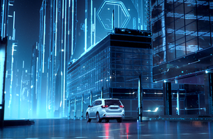 Juice Takes Mitsubishi to a Futuristic Cityscape in Outlander Phev S   LBBOnline