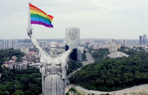 How Drones and a Rainbow Flag Turned a Communist Statue into a Symbol of Equality