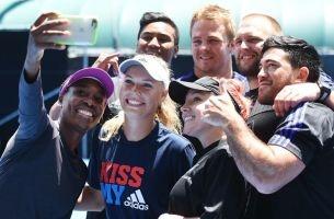 All Blacks Take the Tennis Court with Williams & Wozniacki... as Their Ball Boys