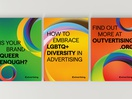 LGBTQ+ Lobby Group Outvertising Gets a Visual Update from MullenLowe Open