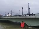 Rosapark Gives Parisian Statue Giant Life Jacket to Raise Global Warming Awareness