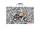 Honda's Iconic Monkey Motorcycle Returns with Bold Print Campaign