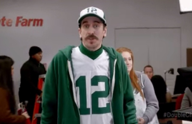 State Farm Perks >> The Perks Of Looking Like Aaron Rodgers In Ddb Chicago S State Farm