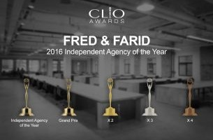 FRED & FARID Named Independent Agency of the Year at Clio Awards 2016