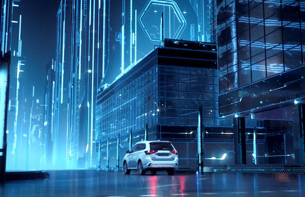 Juice Takes Mitsubishi to a Futuristic Cityscape in Outlander Phev Spot