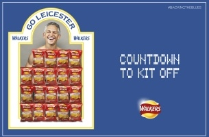 Gary Lineker Strips in Real Time as Walkers Joins the #BackingTheBlues Campaign