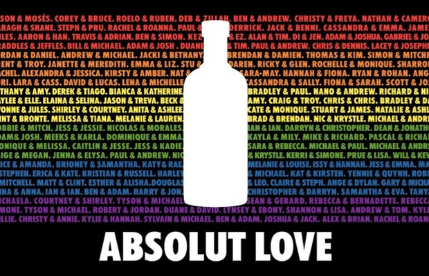Absolut Celebrates Australian Marriage Equality in 'Absolute Love' Campaign