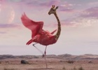 W+K London and Three Release Hilarious Flying Hybrid Giraffe-Amingo to Remind Us to Roam
