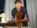 Ashton Kutcher Breaks Up with Pizza in New Extra Gum Campaign