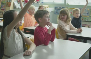 Kids and Adults Look to the Future in Charming New Shell Spot