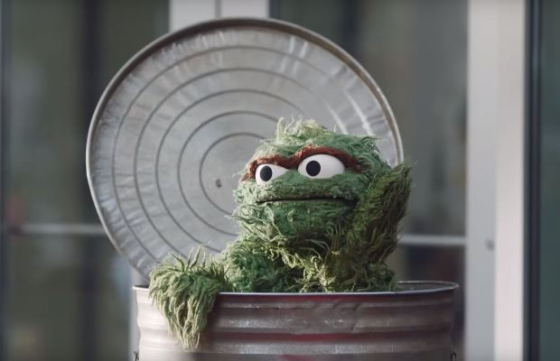 Oscar the Grouch Becomes Art Scene Enfant Terrible for Squarespace