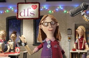 DFS Partners with Aardman for Charming Animated Christmas Campaign