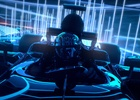 Animated Racing Car Zooms Through Tron-Esque Digital Landscape in Casio Campaign