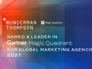 Wunderman Thompson Named Gartner Magic Quadrant Leader