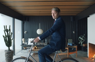 Mads Mikkelsen Considers the Commute in Carlsberg Campaign