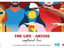 Artists Capture 'The Life Artois' Live at 2020 Australian Open for Stella Artois