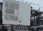 The Message on This Billboard Was Written in Ink Made out of CO2 Pollution