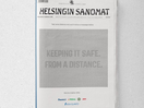 Clever Print Ad Uses Optical Illusion to Remind People to Keep Their Distance in Grocery Stores