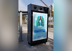 Clear Channel's New Digital Mupi in Port of Barcelona Absorbs Air Pollution