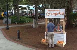 11-year-old Plans for Retirement in Erwin Penland's Orange-aid Stunt
