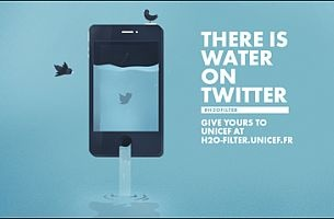 Publicis Conseil & UNICEF France Collect Water on Twitter