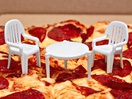 This Pizza Chain Has Turned Takeout Pizza Savers into Mini Patio Sets