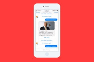 SS+K's New BFF Trump Bot for Facebook Messenger Speaks in Donald's Own Words
