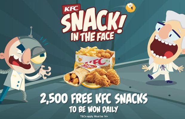 KFC Australia's 'Snack! In the Face'