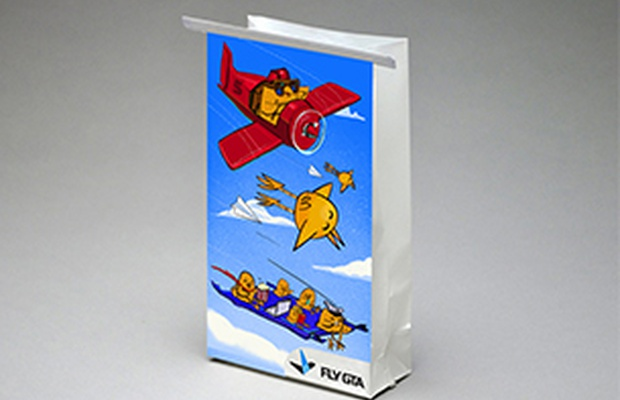 LP/AD Reinvents FlyGTA Airlines Air Sickness Bags