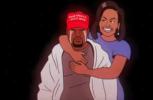 Michelle Obama Consoles a Sobbing Kanye West in Childish Gambino's Latest Promo