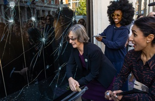 Why London's Biggest Department Stores Have Been Smashing their Windows