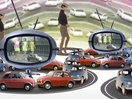 Cyriak Animates Surreal and Psychedelic Trip Through Time for Fiat 500