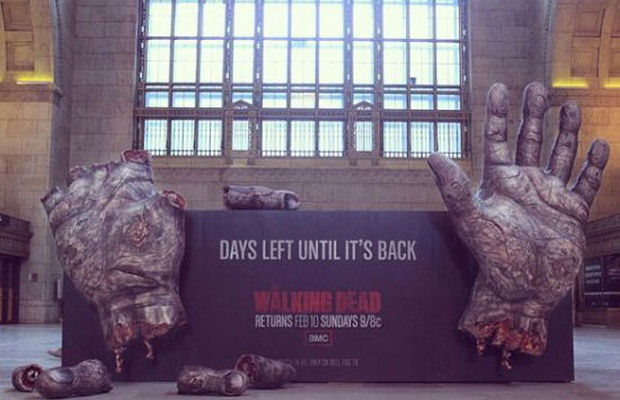 Zombie Fingers Take Over Toronto's Union Station