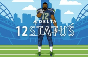 Delta Airlines' New Loyalty Programme for Seattle Seakhawks is Ready for Takeoff