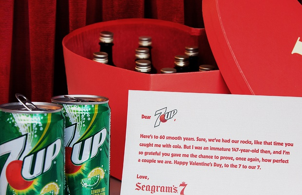 Seagram's 7 Crown Slides into 7UP's DMs This Valentine's Day
