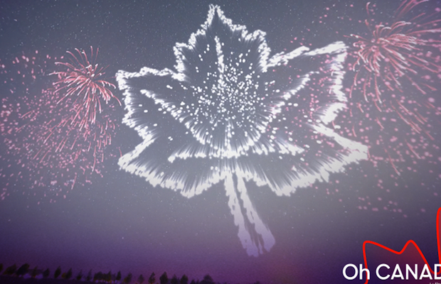 Augmented Reality Fireworks Light Up Canadian Skies