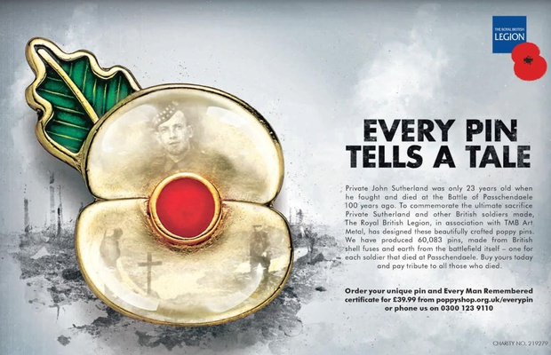 Every Pin Tells a Tale for The Royal British Legion's Powerful
