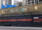 Create's Striking Street Mural Reveals the Stark Truth of Young Carers