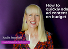 How to Quickly Adapt Ad Content on Budget