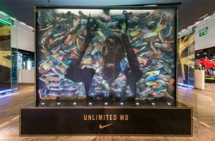 Nike Builds Tribute to Mo Farah Using Gold-Winning Running Shoes