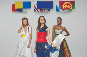 Introducing 'The United Collection' - Garments Made from the Flags of Opposing Nations
