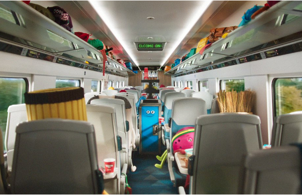 Human Sized Hand Puppets Travel in Style in TransPennine Express ad