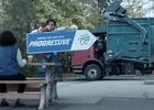 "Progressive: Sign Spinner ""Garbage Day"""