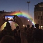 Ben&Jerry's Brings Water-Light Holographic Rainbow to the Centre of Warsaw