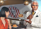 KFC Covers Actor George Hamilton in Bronzer to Launch New Crispy Colonel Sandwich