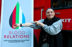 New Yorkers Give Blood at Blood Relations Event