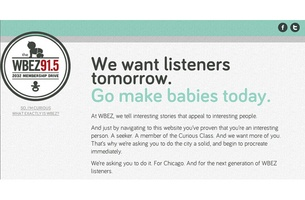 WBEZ 91.5FM Urges Chicago to 'Go Make Babies'
