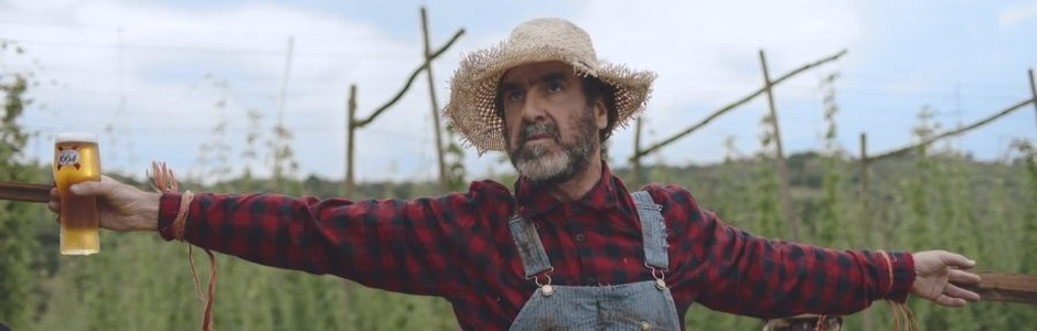 Eric Cantona Whiles Away the Hours in Kronenbourg's 'Scarecrow' Spot