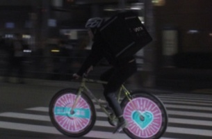 Ogilvy Japan's Gyrokinetic Spokes for UberEATS Japan Aims to Raise Cycling Safety Awareness